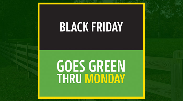 Black Friday Goes Green at P&K