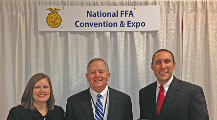 Eisenhauer Receives Honorary FFA Degree
