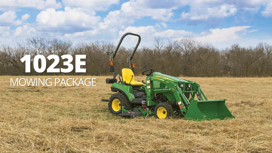 John Deere 1023E Mowing Package is just $199 per month at P&K!