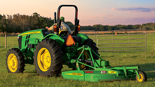 5 Series Tractors with our heavy-duty rotary cutters are ready to work!