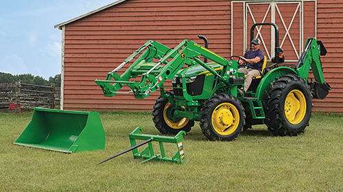 5 Series Tractors are compatible with a variety of Frontier and John Deere implements!