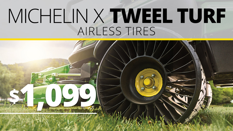 Add Michelin X Tweel Turf Airless Tires for only $1099!