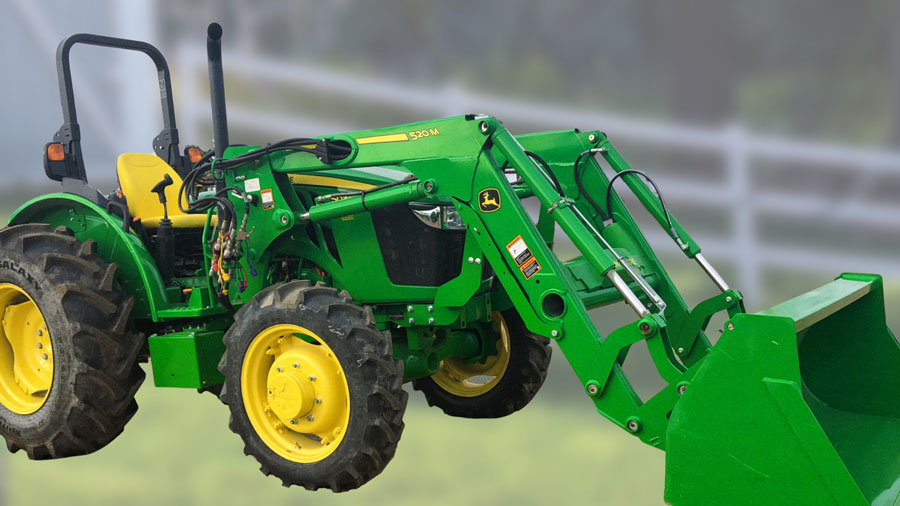 Get A 5045E MFWD Tractor + 520M Loader for $29,199 cash or only $296 per month!